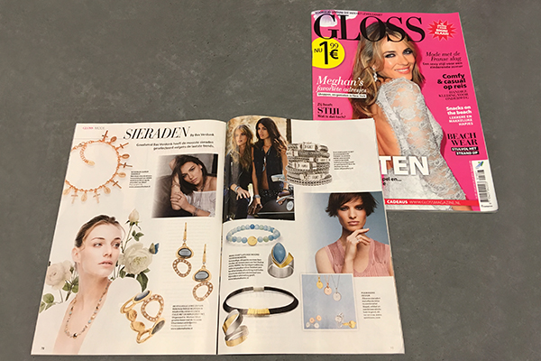 SILK gespot in Gloss magazine