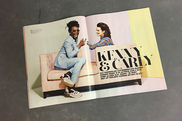 Kenny B in Linda Magazine